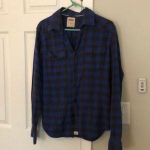 Levi's blue plaid flannel button down
